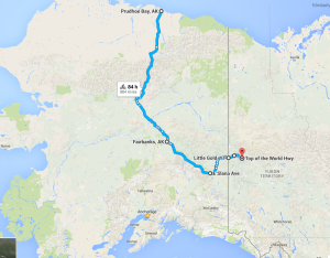 Leg 2 with TOW-Prudhoe Bay, AK to Top of the World Hwy
